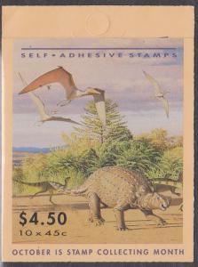 Australia - 1993 Dinosaurs $4.50 Complete Booklet SG SB81