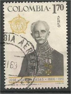 COLOMBIA, 1967, used  1.70p Joaquin Casas Scott C487