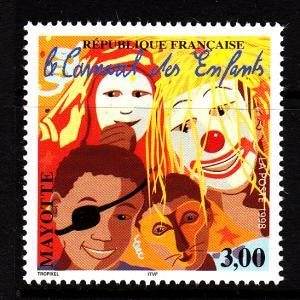 Mayotte MNH Scott #105 3fr Children's Carnival