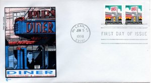 US FDC #3208 Diner, Cover Craft (0718)