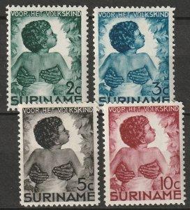 Suriname 1936 Sc B22-5 set MLH