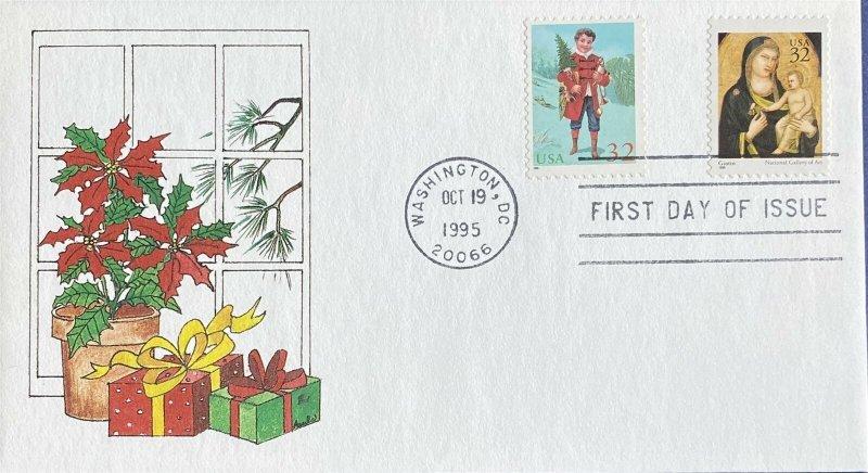 AFDCS Court of Honor 15 1995 Paula Bogert Whiddon Both Stamps 4 Bar