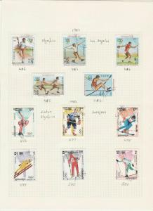 cambodia kampuchea 1983/87  stamps page ref 18366