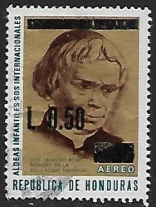 Honduras # C560 - Father J. Trinidad Reyes - OVPT - used   -{BR9}
