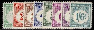 GILBERT AND ELLICE ISLANDS GVI SG D1-D8, complete set, LH MINT. Cat £180.