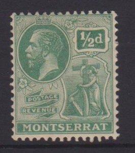 Montserrat Sc#55 MH - tiny thin