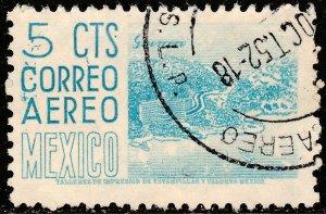 MEXICO C186, 5c 1950 Definitive wmk 279 Used. F-VF. (518)