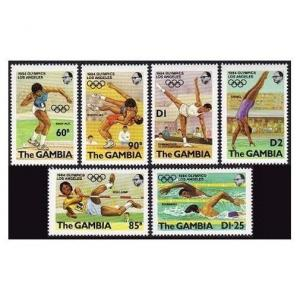 Gambia 508-514,MNH.Michel 500-505,Bl.8. Olympics Los Angeles-1984:Diving,Yacht.