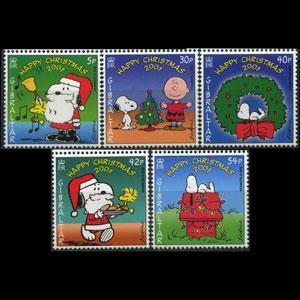 GIBRALTAR 2001 - Scott# 890-4 Snoopy Comic Set of 5 NH