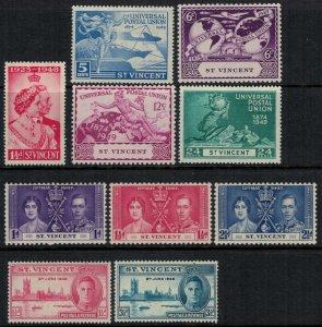 St. Vincent #138-40,52-4,70-3*  CV $3.75