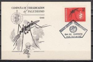 Argentina, Scott cat. 737. World Against Malaria issue. First day card. ^