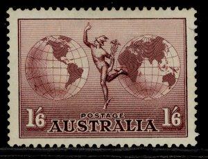 AUSTRALIA GV SG153b, 1s 6d dull purple, M MINT.