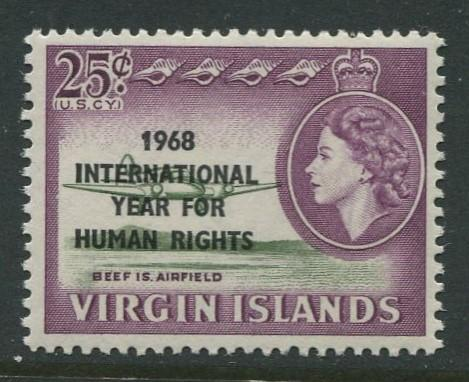 Virgin Is.- Scott 191 - Human Rights -1968 - MNH - Single 25c Stamp