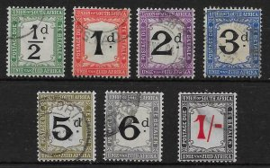 SOUTH AFRICA SGD1/7 1914-22 POSTAGE DUES FINE USED