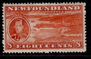 CANADA - Newfoundland GVI SG260, 8c scarlet, M MINT.