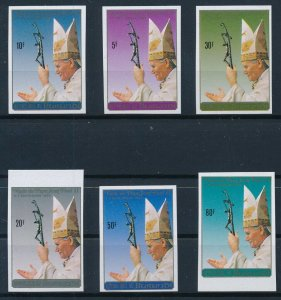 [I1355] Burundi 1990 Pope good set of stamps very fine MNH imperf
