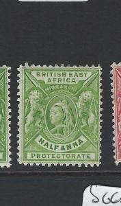 BRITISH EAST AFRICA (B1903)  QV LION 1/2A  SG65  SPLIT WMK CA OVER CROWN  MOG