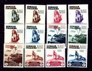 Somalia 164-69 and C1-6 MLH 1934 Colonial Arts