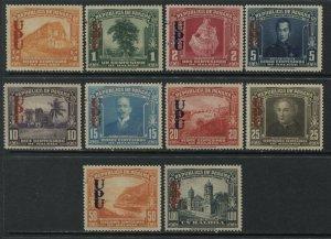 Panama 1949 overprinted values to 1 balboa mint o.g. hinged