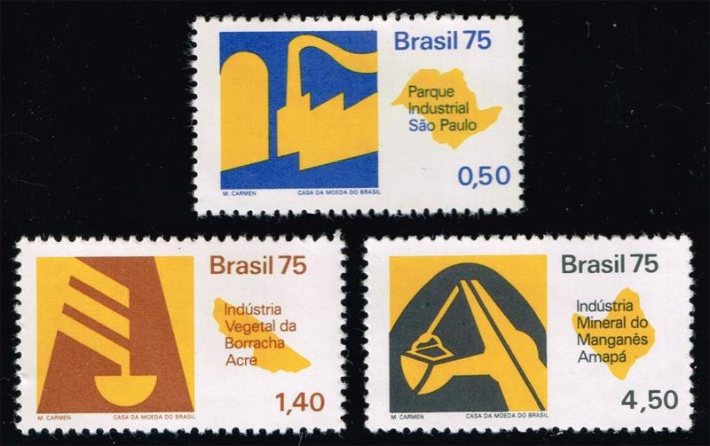 Brazil #1376-1378 Economic Development Set of 3; MNH (9.25)