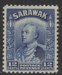 SARAWAK SG114 1934 12c BLUE MTD MINT