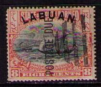 LABUAN Sc# J6 USED F Postage Due Overprint Dhow Ship