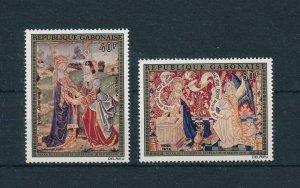 [104715] Gabon 1974 Christmas Weihnachten art paintings details Notre Dame  MNH