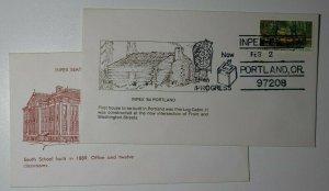 INPEX Seattle WA Portland OR 1981 & 1984  Philatelic Expo Cachet Cover