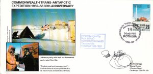 British Antarctic Territory FDC Sc 147 Signed Peter Jeffries Cachet Advance p...