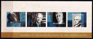 #4422 Supreme Court Justices S/Sheet of 4  - MNH