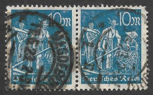 Doyle's_Stamps: Used 1922 German Reich Inflationary Pair, Scott #222