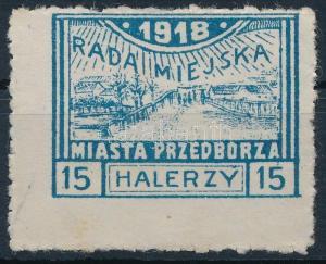 Poland stamp Przedbórz Przedbórz Without gum 1918 Mi 13 B Landscapes WS223101