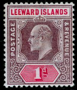 LEEWARD ISLANDS SG21, 1d dull purple & carmine, LH MINT.