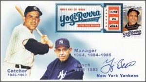 21-180, 2021, Yogi Berra, First Day Cover, Digital Color Postmark, Baseball, SC