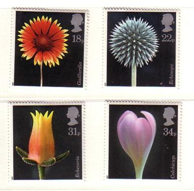 Great Britain Sc 1168-71 1987 Flora Photographs stamp set mint NH