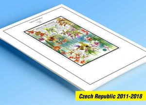 COLOR PRINTED CZECH REPUBLIC 2011-2018 STAMP ALBUM PAGES (56 illustrated pages)
