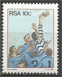 SOUTH AFRICA, 1983, MNH 10c,  Rugby Scott 618