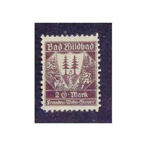 Germany - Bad Wildbad 2DM Municipal Revenue Stamp