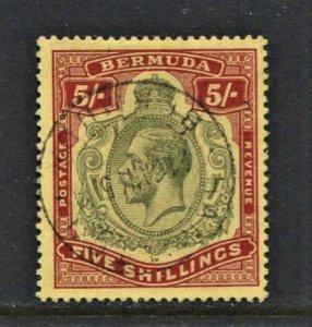 STAMP STATION PERTH Bermuda #52 KGV VFU - Wmk.3 CV$150.00 - Beauty