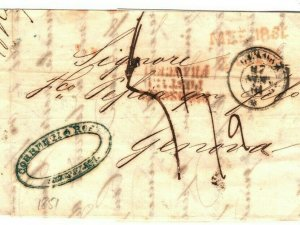 ITALY Entire Letter Cover Genoa EL 1862{samwells-covers} SP28