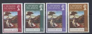 Cayman Islands - Scott 251-54- Christmas -1970 - MLH - Short Set 4 X 1/4c Stamp