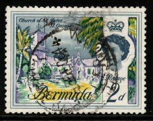 BERMUDA SG164w 1962 2d DEFINITIVE WMK INVERTED(RPS CERT) FINE USED