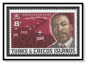 Turks & Caicos #179 Martin Luther King MNH