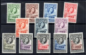 Bechuanaland QEII 1953 mint LHM set mint LHM set #143-153 WS16754