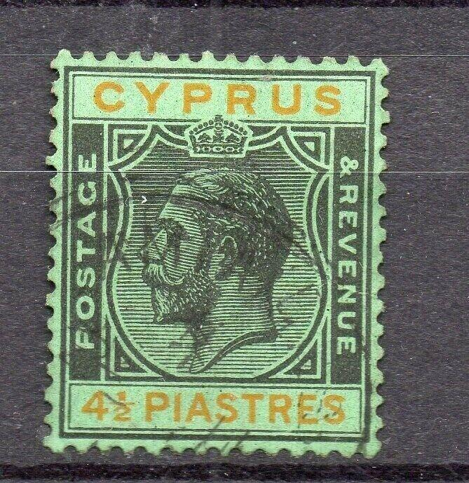 Cyprus 1920s Early Issue Fine Used 4.5p. 309118