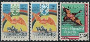 Peru #C163-5*  CV $5.30