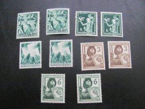 GERMANY 1936-7 MNH LOT (115)