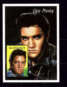 St Vincent 1567 NH 1992 Elvis Presley Souvenir Sheet