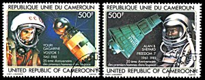 Cameroon C291-C292, CTO, 20th Anniversary of Manned Space Flights
