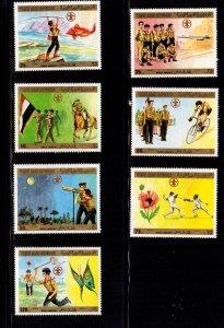 Yemen - #367-370, C56-C58. Scouting issue set/7 - MNH